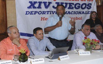 Danilo Díaz resalta muestras de apoyo en SFM a XIV Juegos Nacionales HM